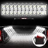 Favoto 10x6 LED DIY Licht für LKW Bett Auto Innenraum Beleuchtung mit Schalter IP67 Wasserdicht 5730 SMD LED Streifen Kits 12V für Garderobe Treppe Lager Reisezugwagen