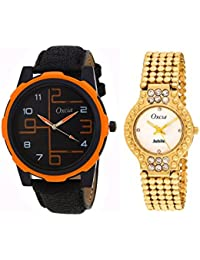 Oxcia Wrist Watch Couple Combo For Men And Women WATCH_3010_6038