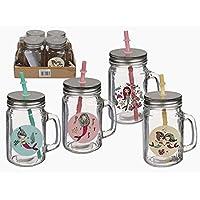 MC de Trend® 4 vasos sirena con tapa y pajita 4 dulces Diseños diferentes con