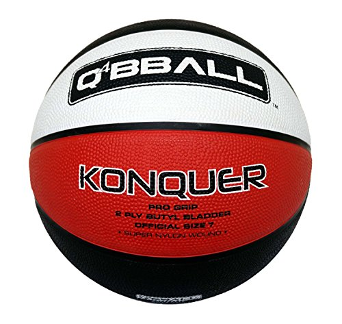 Q4 Kid 's KONQUER Basketball, Tan, Größe 5 (Pebble Grain Black)