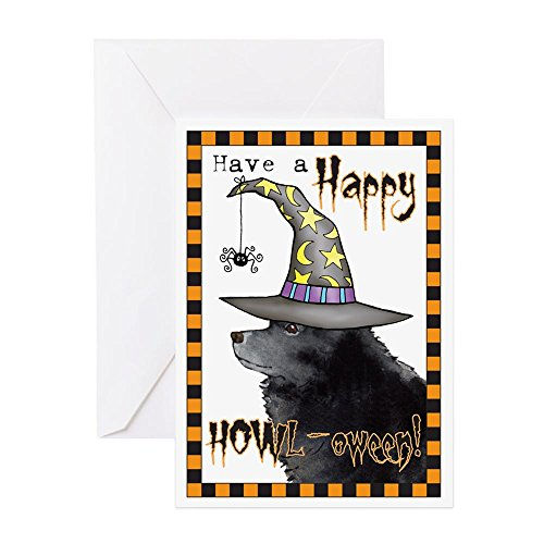CafePress – Halloween Schipperke – Grußkarte, Notizkarte, Geburtstagskarte, blanko Innenseite ()