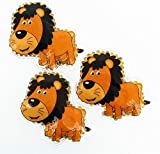 3 Kühlpads Wärmepad mehrfach Kompresse Kühlkissen Kinder wärmen kühlen Löwe