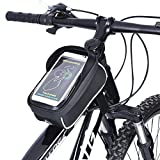 UPGOO Rahmentaschen,Fahrradtasche Fahrrad Rahmentaschen Wasserdicht Oberrohrtasche Fahrrad Handy-Tasche klaren PVC-Schirm Sensitive Touch-Screen
