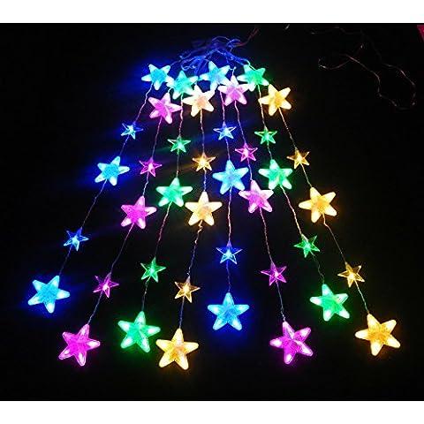 Nene LED stelle Icicle LED luci tenda LED interno Leuchten matrimonio accessori, (Blu Icicle)