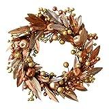 Kransen Simulatie Kunstmatige Kroon van de Gouden Bladeren Berry Kroon van Kerstmis Deur Opknoping Flower Link Day Wedding Party deuren en ramen Decoratie van de muur slingers