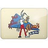 Bair89Pulla Aluschild Jack Rabbit Slims Twist Contest Pulp Fiction 20,3 x 30,5 cm dekorative Blechschilder