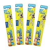 aquawhite Sponge Bob Square Pants Tiffany Toothbrush for Kids (Age 3-14 Years) -Set