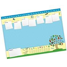 25 Blatt Papier Schreibtischunterlage für Schulkinder mit 1x1