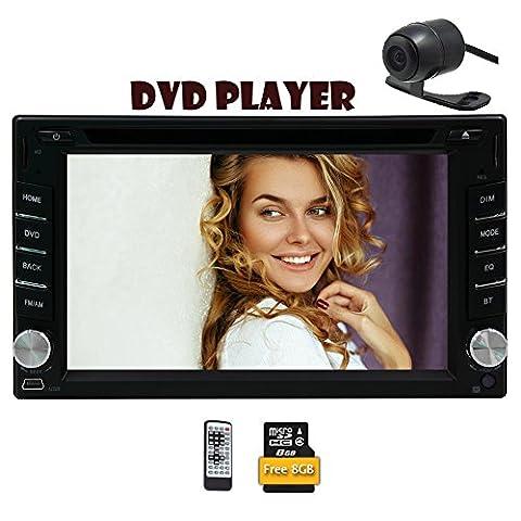 6.2 Zoll Universal-Autoradio mit Bluetooth 2 L?rm-Auto-CD DVD-Player HD-FM AM