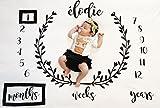 Kyerivs Couverture de photographie Personnalisé Baby Shower Girl Infant Kids Photo Props pour Newborn Boy Girls Shooting photographique (100*100cm)