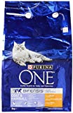 Purina ONE Coat and Hairball Dry Cat Food Chicken, 3kg