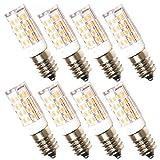 Lampaous 8er Pack LED Lampe E14, LED Mais-Form Licht, 5W ersatz für 40W Glühbirne Dunstabzugshaube, 400lm, 2700K Warmweiss, 360°Abstrahwinkel, LED Kronleucter Tischlampe Deckenlampen, nicht dimmbar