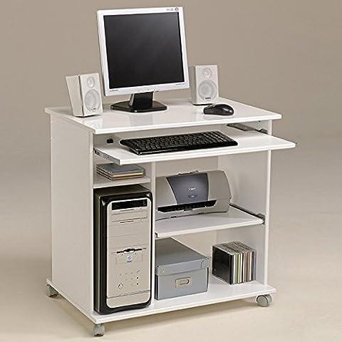 Schreibtisch weiß hochglanz B 76 cm PC Computertisch Kinderschreibtisch Jugendschreibtisch Bürotisch Jugendzimmer Kinderzimmer