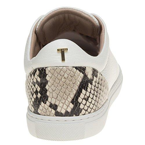 Ted Baker Vlorae Femme Baskets Mode Blanc Blanc