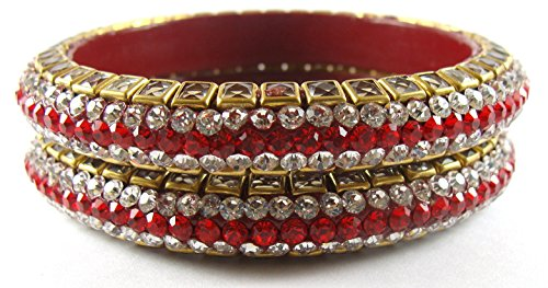 Sukriti Red Lac Bangle Set For Women