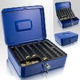 30cm Blau Geldkassette Münzkassette Geldkasse Geld Kasse Safe Zählkassette Transportkassette