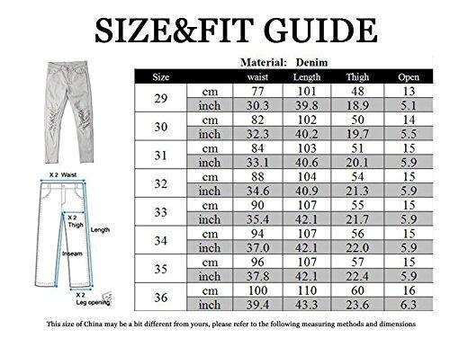 Homme - Jeans - Pantalons Denim - Super Skinny avec Genoux Déchirés - Tendances Mode Noir