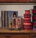 Retro Vinyl-Schallplattenständer für 50 LPs und Singles