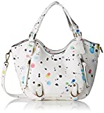 Desigual Women's BOLS_ROTTERDAM Mini New Splatt Top-Handle Bag, White (1000), 12 x ...