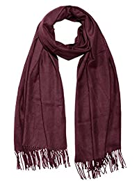 65dfa8972c2 Amazon.fr   Plaid Bordeaux - Echarpes   Echarpes et foulards   Vêtements