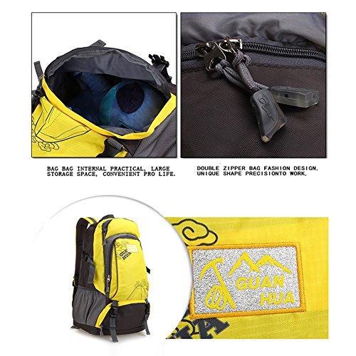 ADS 40L capacità zaino da escursionismo/campeggio borsa/zaino/borsa sportiva con Fanny confezioni, uomo, Zaino, nero verde