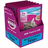 Whiskas Wet Meal Adult Cat Food, Tuna In Jelly, 85 G (Pack Of 6)