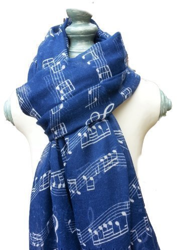 music-scarf-musical-piano-violin-notes-classical-mozart-style-crotchet-quaver-scarf-navy