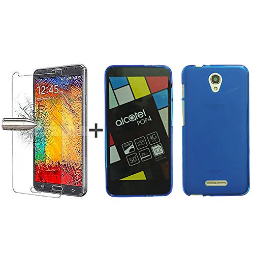tbocr-pack-blue-tpu-silicone-gel-case-tempered-glass-screen-protector-for-alcatel-pop-4-50-inches-so