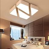 LED 48W Designer Deckenleuchte Lampe Dimmbar Fernbedienung warm-neutral-kaltweiß Weiß HS6958-L53