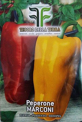 450 Aprox- Semillas de Peperone Marconi - Capsicum annuum en su empaque original Hecho en Italia - Peperoni Marcone