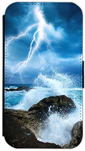 Flip Cover für Apple iPhone 6 / 6S (4,7 Zoll) Design 484 Pferd Hengst Schwarz Hülle aus Kunst-Leder Handytasche Etui Schutzhülle Case Wallet Buchflip mit Bild (484) 482
