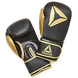Reebok Gants d'entraînement de Boxe Mixte Adulte, Or/Noir, 10oz