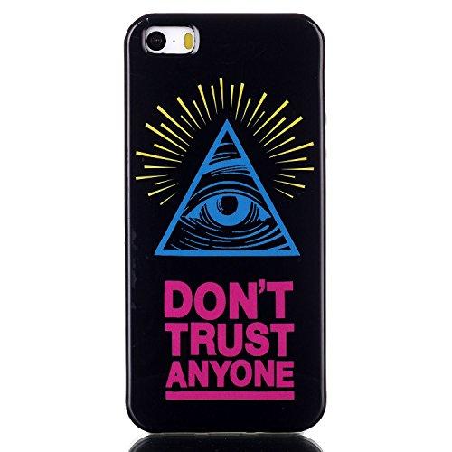 Voguecase® Pour Apple iphone 5C, TPU Silicone Shell Housse Coque Étui Case Cover (Stripe 02)+ Gratuit stylet l'écran aléatoire universelle yeux bleus 02