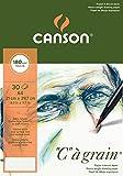 Canson 400060577 C a grain Zeichenpapier, A4, naturweiß