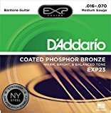 Best D'Addario Acoustic Bass Guitars - D'Addario EXP23 EXP Coated Phosphor Bronze Baritone (.016-.070) Review