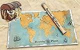 Scratchy Planet, scratch card è tenuta in un look vintage, atlante da grattare, mappa del mondo tipo gratta e vinci, mappa internazionale XL da grattare via, nomi dei paesi in lingua autentici