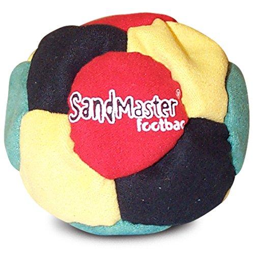 World Footbag SandMaster Hacky Sack Fußsack, Yellow/Black/Green/Red