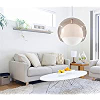 PC D25 CM Creative moderna Palla di vetro ciondolo pendente di luce della lampada sala (Famiglie Luce Ciondolo Pendente)