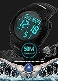 Yuloen Gute Qualität Digital-Sport-Uhr der Männer draußen laufende Wasserdichte Uhren 5ATM