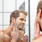 CHIC-CHIC Maison 16pcs 15*15cm Autocollant Mural surface du miroir Stickers Muraux Bricolage Acrylique 3D Accueil Decal...