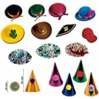 20pezzi Cappellini, Klein, colori assortiti