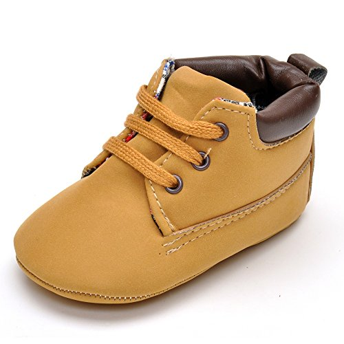 Infant Jungen Braun Sneakers PU Sneakers Größe 0-6 Monate