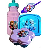 Disney Frozen Lunch Set With Standing Lunch Box With Handle Includes 3 Piece Lunch Set