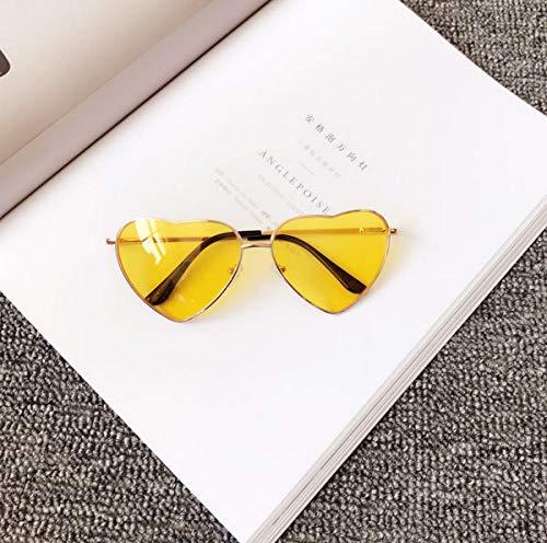 BHLTG Sonnenbrille Frauen Flut Persönlichkeit Mode Süße Nette Pfirsich Herz Sonnenbrille Japanische Transparente Sonnenbrille Strand Mirror-6