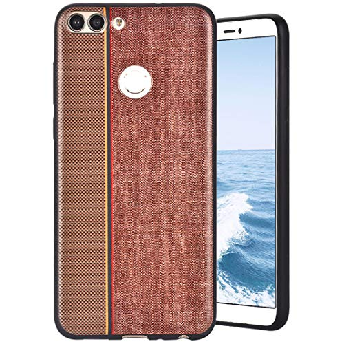 MeganStore Coque For Huawei P Smart/Enjoy 7s Silicone,Ultra Mince Leger Silicone TPU Doux Etui de Protection Anti-Choc Anti-Rayures Antidérapant Pare-Chocs Housse For Huawei P Smart/Enjoy 7s,Marron