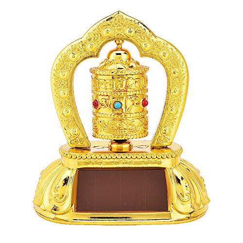 Sonnenenergie Gebetsmühle, Auto drehendes Gebetsmühle Sonnenenergie tibetische buddhistische Gebetsmühle zeremonielle günstige Gegenstände - Tibetische Gebetsmühle