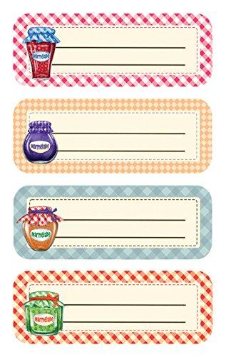 6 Marmeladen Etiketten Gläser (wiederablösbar) 8 Aufkleber ()