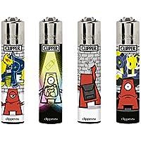 Clipper–03, poco graffiter Collection, Juego de 4encendedores