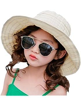 Leisial Cappello Pieghevole Cappello per il sole dei bambini Beach Cappello Muovi protezione UV del cappello di...