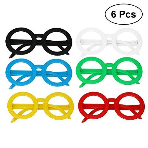 TOYMYTOY Cartoon Bunte Brillen Frames | Kinder Geburtstagsfeier Eyewear, 6 Stück (zufällige Farbe)